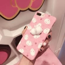 -3D Cartoon Seal Rabbit Hard Plastic Phone Case Cover for iPhone 7/6/6s Plus Skin on JD