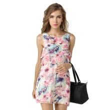 -Women's Summer Wear to Work Slim Fit Print Dresses on JD
