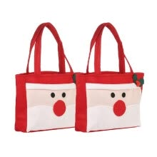 -2pcs/set Santa Claus Style Christmas Candy Bags with Handles Non-woven Gift Wrap Bag X'mas Decoration Ornaments on JD