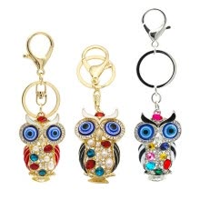 -Crystal Colored Diamond Owls Charms Twinkle Night Owl Phone Case Straps Shining Rhinestones Keychain Glittered Diamonds Pendant on JD
