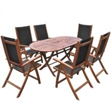 other-furniture-Outdoor Dining Set 7 Pieces Acacia Wood Folding on JD