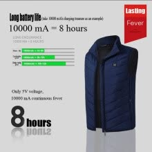 vests-Charging heating vest 2018 autumn and winter new smart heating electric hot vest cotton coat Slim warm vest on JD