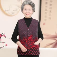 vests-The new elderly woman waistcoat is 60-70 years old. on JD
