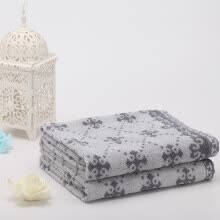 8750203-Fugu Jie Jade Towel Home Textiles Cotton Comfort Soft Home Accumulation Pillowcase 2 Pack 50 * 80cm 160g * 2 Brown on JD