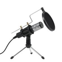 875072520-Professional Condenser Microphone USB Plug and Play Home Studio Podcast Vocal Recording Microphones with Mini MIC Stand Dual-layer on JD