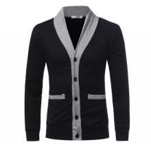 -Fashion Men Long Sleeve V Neck Button Closure Casual Slim Cardigan Sweater Coat on JD