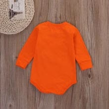 -Cute Newborn Baby Girls Boys Smile Romper Orange Bodysuit Cotton Outfits Clothes on JD