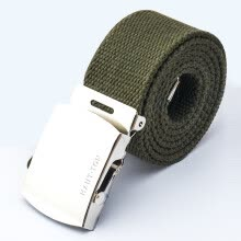 -HAUTTON Belt Men's Canvas Belt Outdoor Fashion JL1123 Army Green on JD