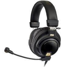 -Audio-Technica ATH-PG1 Headset Professional Game Computer Wire Control Headset Headset Black on JD