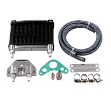 -MB-OCC041 Universal Motorcycle CNC Aluminum Engine Oil Cooler Cooling Radiator Kit for 50cc 110cc 125cc 140cc 150cc ATV PIT PRO Tr on JD