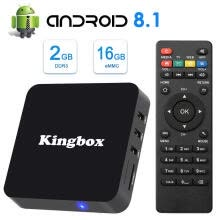 tv-boxes-kingbox Android TV Box 8.1, 2018 Newest K2 Android Box with 2GB Ram 16GB ROM Quad-Core Support WiFi/3D/4K/H.265 Smart TV Box on JD