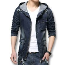 sports-apparel-Men Jacket Denim 2016 New Hot Sale Men Blue Denim Jeans Coats Fashion Designer Men Slim Fits Outwears With Hat Plus Size 4XL on JD