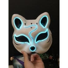 led-light-up-toys-Halloween Mask, Cosplay LED Glow Scary EL Wire Light up Fox Masks New on JD