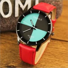 -New Fashion Feather Women Men PU Leather Dial Quartz Wrist Watch Sports Watches on JD