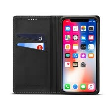 -Новый iPhoneXS Max Mobile Shell Apple 8 Кожаный чехол Clamshell Card Wallet Black on JD