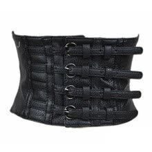belts-VOCHIC PU Leather High Waist Wide Belt Corsets for Waist Training on JD