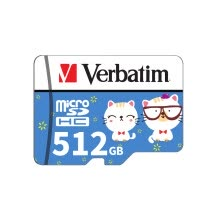 -Verbatim Micro SD Card Class10 TF Card 512GB Memory Card for Smart Phone Tablet PC Car Recorder (Adapter Not Include) on JD