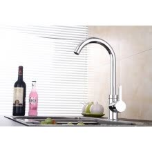 -Fyeer Fyeer Single Handle Brass Mixer Tap Waterfall Kitchen Sink Faucet on JD