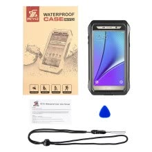 -Waterproof Shockproof Dirt Snow Proof Case Cover W/Stand for Samsung Note5 on JD