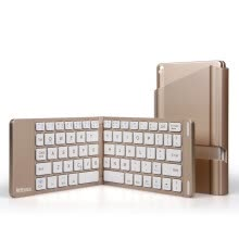 -Folding Bluetooth keyboard mobile phone Tablet PC three systems universal folding Bluetooth wireless keyboard on JD