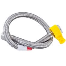-Ballee (Ballee) D59 30CM hot and cold water universal 304 stainless steel braided hose explosion-proof inlet pipe on JD