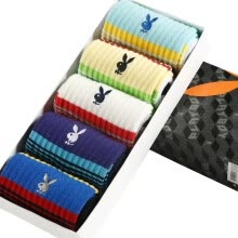 -[Jingdong supermarket] Playboy PLAYBOY sports socks men's socks male combed cotton comfortable warm socks stripes 5 double installed 26-28cm on JD