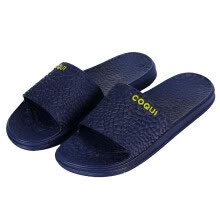 -[Jingdong Supermarket] Cool fun Coqui Four seasons Couples Home Bathroom Slippers Home Simple Soft bottom Beach Bathing Sandals and slippers Female models Light blue 36-37 yards CQ5071 on JD