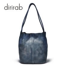 crossbody-bags-Dirirab  Genuine Leather Handbag Bubble Bag Imported Leather Tilting Bag New Shoulder Bag Simple Retro Handwork on JD