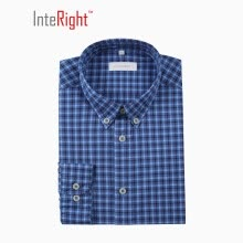 tuxedo-shirts-INTERIGHT Cotton Casual Jacquard Men Casual Shirt Fashion Blue Check L Code on JD