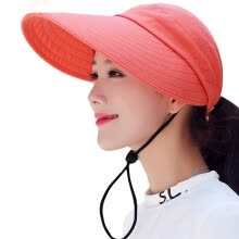 -【Jingdong Supermarket】 Lan Shiyu M0210 empty top sun hat female summer big outdoor sun sun hat riding can be folded hat sky blue on JD