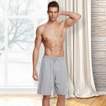 -[Jingdong supermarket] Playboy 7766 cotton sports shorts male spring and summer beach pants loose five pants pants big pants black XXL on JD