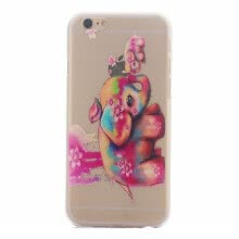 -Color elephant Pattern Soft Thin TPU Rubber Silicone Gel Case Cover for IPHONE 6/6S on JD
