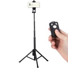 tripods-mounts-Yunteng VT-1808 mobile phone self-timer tripod tripod mini portable travel remote control triangular bracket micro single artifact on JD