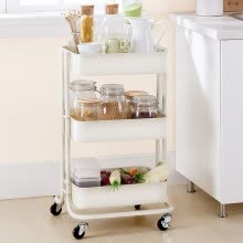 8750213-YICAINIANHUA 3 tiers metal kitchen storage rack cart on JD