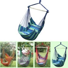 8750505-MyMei  Canvas Hammock Hanging Rope Swing Chair Seat Hammock Bench Swinging Cushione on JD