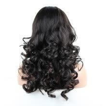 -8A Natural Body Wave Full Lace Human Hair Wigs 100% Human Hair for African American on JD