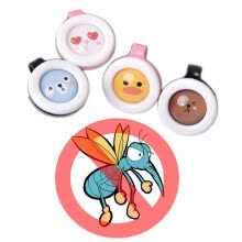 -1pcs Summer Cartoon Safe Anti-Mosquito Buckle Pest Reject Mosquitoes Repellent Buckles for Adults Kids Baby Random Color on JD