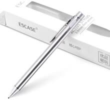 -ESCASE Apple iPad capacitive pen stylus compatible with Microsoft Surface / Huawei / Samsung Tablet PC phone smart touch rechargeable business enjoyment version of silver white on JD