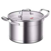 -[Jingdong Supermarket] Cooking Great Wong soup pot 304 stainless steel soup milk pot 22CM no coated stew pot boiled pot Induction Cooker Gas Gas stove fire Universal T22A on JD