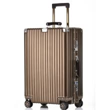 -Travel House (Aluminum) Magnesium Alloy Retro Aluminum Frame Trolley Case Female Universal Wheel Boarding Luggage Female T1858 Black 20 Inch on JD