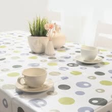 -FOOJO rich tablecloth high temperature waterproof anti-oil PVC table cloth 135 * 180cm grid on JD