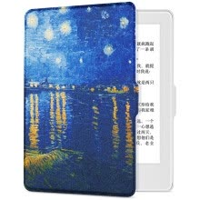 -Pottery fit Kindle 558 version of the protective cover / shell painting series new Kindle e-book sleeping leather white - Van Gogh Star on JD