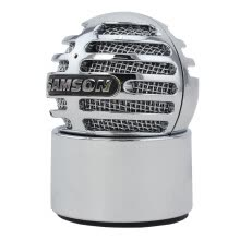 -SAMSON Meteorite Spherical Mini USB Capacitor Microphone Desktop Computer Desktop Recording Equipment Silver on JD