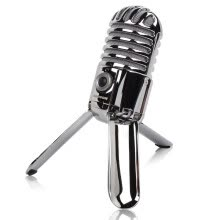 -SAMSON Meteor Robot USB Condenser Microphone Webcast Live K Song Bench Silver on JD