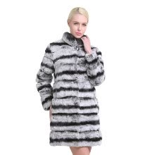 fur-SARSALLYA New Fashion Rex Rabbit Coat Mandarin Collar Long Sleeve Thick Warm Fur Winter Women Real Fur Coat Winter Jacket Women on JD