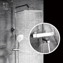 -HIDEEP square Bathroom  rain shower set with square shower head on JD