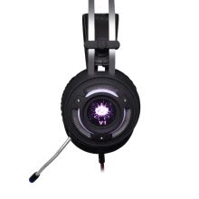 -(YISHE) YS-G4000 Colorful breathing light light metal headset computer game headset bass microphone microphone microphone desktop headset black on JD