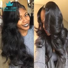 -360 Lace Frontal with Bundles Brazilian Body Wave Virgin Hair with Frontal Closure 360 Lace Band with Baby Hair Natural Black 1B on JD