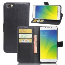 -GANGXUN Oppo F3 Plus Case High Quality PU Leather Flip Cover Kickstand Anti-shock Wallet Case for Oppo R9s Plus on JD