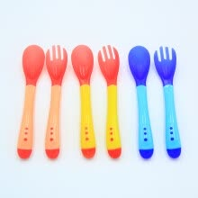 products-for-babies-2 pcs Safety Temperature Sensing Spoon Baby Flatware Feeding Spoon fork on JD